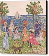 Promenade Canvas Print by Maurice Brazil Prendergast