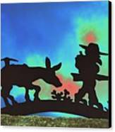 Prospector's Silhouette Canvas Print by Richard Henne