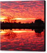 Dramatic Orange Sunset Canvas Print