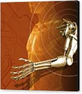 Prosthetic Robotic Arm, Computer Artwork Canvas Print by Victor Habbick Visions