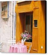 Provence Cafe Canvas Print