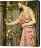 Psyche Entering Cupid's Garden Canvas Print by John William Waterhouse