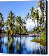 Pu Uhonua O Honaunau Pond Canvas Print