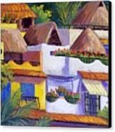 Puerto Vallarta Hillside Canvas Print by Candy Mayer