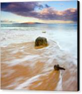 Pulled To The Sea Canvas Print by Mike  Dawson