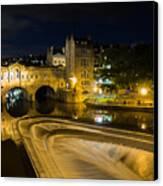 Pulteney Bridge At Night Canvas Print by Trevor Wintle