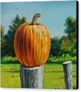 Pumpkin Post Canvas Print