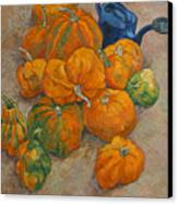 Pumpkins And Watering Can Canvas Print