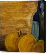 Pumpkins And Wine  Canvas Print by Steve Jorde
