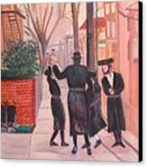 Purim In Boro Park Canvas Print by Carla Goodstein