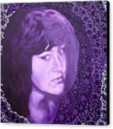 Purple And Lace Canvas Print