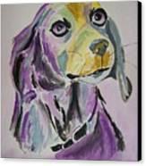 Purple Beagle Canvas Print