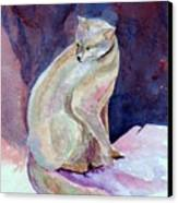 Purple Cat Canvas Print