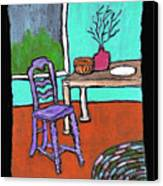 Purple Chair Canvas Print