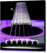 Purple Guitar 15 Canvas Print