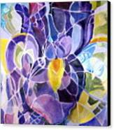 Purple Irises Canvas Print by Therese AbouNader