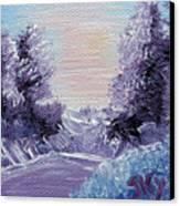 Purple Majesty Landscape Canvas Print by Jera Sky