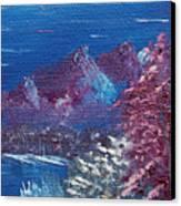 Purple Mountain Landscape Canvas Print