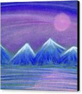 Purple Night 3 Canvas Print by Hakon Soreide