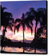Purple Sunrise  Canvas Print by Lisa Bentley