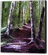 Purple Walk Canvas Print