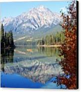 Pyramid Mountain Reflection 3 Canvas Print by Larry Ricker