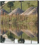 Pyrimids By The Lakeside Cache Canvas Print