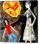 Pyro The Firebird Canvas Print by Sushila Burgess