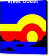 Qcs Sunset Canvas Print