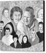 Quade Family Portrait  Canvas Print