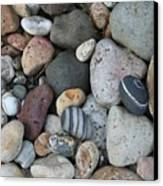 Queen Charlotte Island Stones Canvas Print by Sherry Leigh Williams