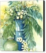Queen Emma In Blue Vase Canvas Print