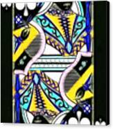 Queen Of Spades - V2 Canvas Print by Wingsdomain Art and Photography