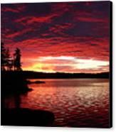 Quetico Sun Rise Canvas Print by Peter  McIntosh
