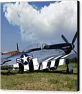 Quick Silver P-51 Color Canvas Print