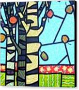 Quilted Birch Garden Canvas Print
