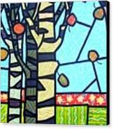 Quilted Birch Garden Canvas Print