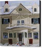Quincy Street Canvas Print by Mary Capriole