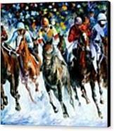 Race On The Snow Canvas Print