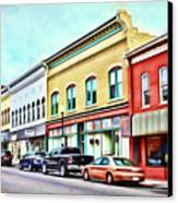 Radford Virginia - Along Main Street Canvas Print by Kerri Farley