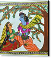 Radha Krishna  Canvas Print by Shruti Prasad