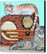 Radio Cats Canvas Print by Chris Dreher