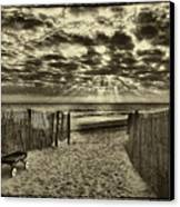 Radio Flyer At Dewey Beach Canvas Print by Jack Paolini