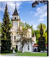 Radziejowice Castle Canvas Print by Tomasz Dziubinski