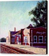 Railroad Station Canvas Print by Stan Hamilton