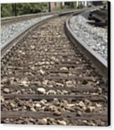 Railroad Tracks Canvas Print by Danielle Allard