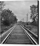 Railroad Tracks Canvas Print by Matthew Angelo
