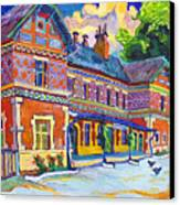 Railway Station In Lednice Canvas Print