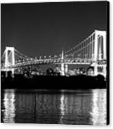 Rainbow Bridge At Night Canvas Print