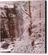 Rainbow Falls Smoky Mountain National Park -- Painted Photo. Canvas Print by Christopher Gaston